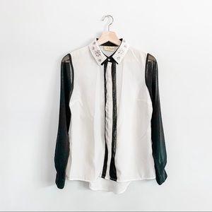 Princess Vera Wang Long Sleeve Button Up Blouse